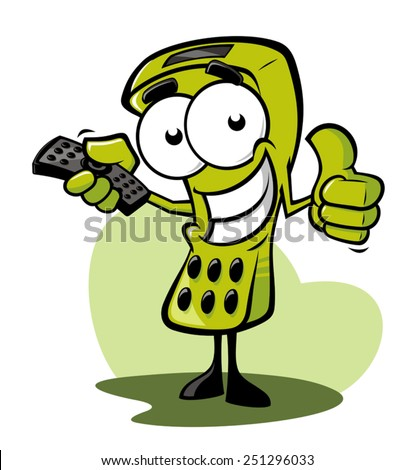 Funny remote control - stock vector
