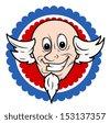 Funny Uncle Sam Face Cartoon Vector - stock vector