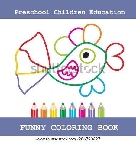 Funny Vector Illustration of Finding Differences. Educational Game for Children - stock vector