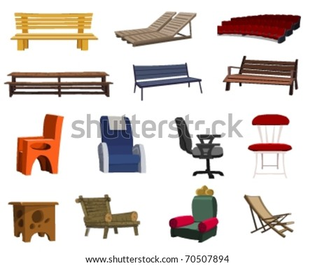 Furniture Gallery - stock vector