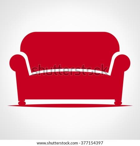 Furniture Sofa - stock vector