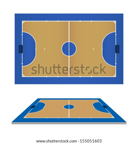 Futsal court - Vector illustration - stock vector