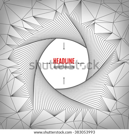 Future technology concept, shapes 3d, geometric polygonal posters, pentagon line art design. Typography abstract background for banners, web site, presentations, brochures, flyers, business cards - stock vector