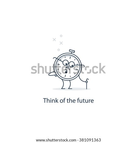 Future thinking, time to retire - stock vector