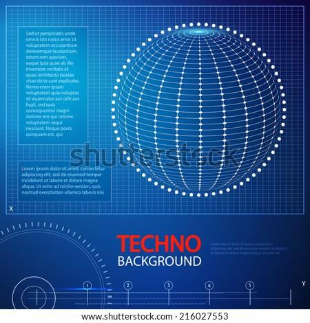 Futuristic abstract techno background. Vector illustration.  - stock vector