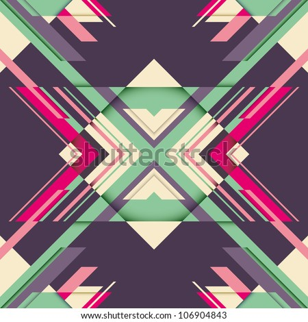 Futuristic abstraction with geometric shapes. Vector illustration. - stock vector
