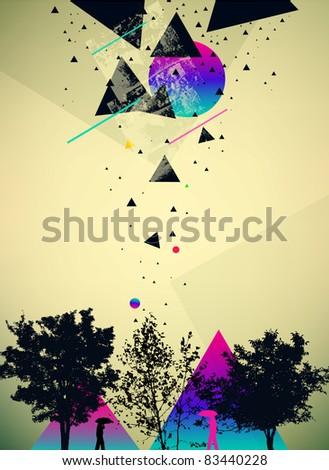 futuristic art abstract vector background - stock vector
