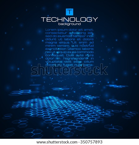 Futuristic digital background with space for your text. Technology illustration for your business/science/technology artwork. Vector design element. - stock vector