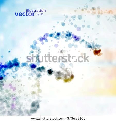 Futuristic dna, abstract molecule, cell illustration eps10 - stock vector