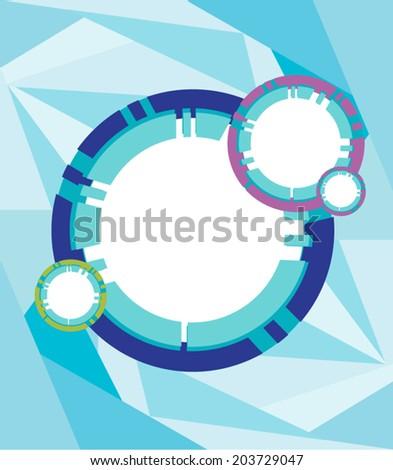 Futuristic Frame vector. Multiple circles - stock vector