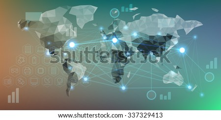 Futuristic infographics with elements of user interface HUD on dark background. Vector illustration. - stock vector
