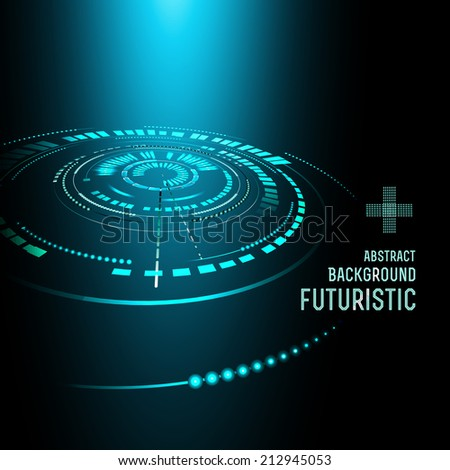 Futuristic interface, HUD,  vector background - stock vector