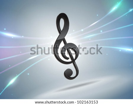 futuristic music note background - stock vector