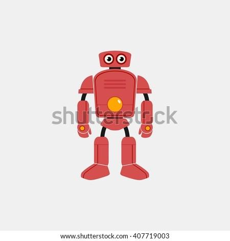 Futuristic robot icon. futuristic robot character. cyborg robot design template vector illustration - stock vector