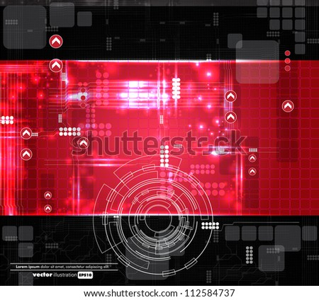 Futuristic technical background - stock vector