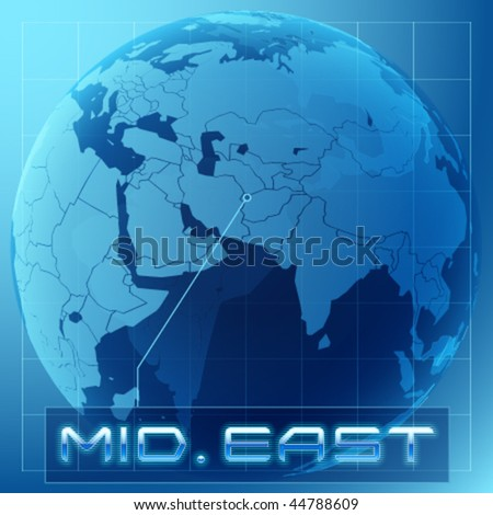 Futuristic traveling transparency globe map - stock vector