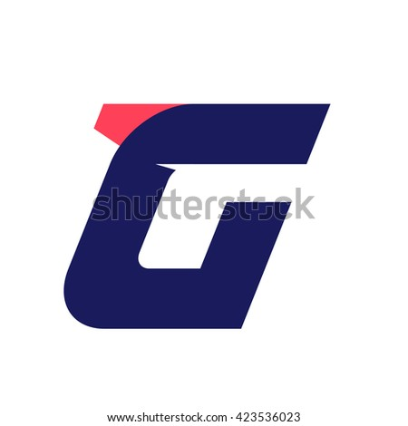 G letter run logo design template. Vector sport style typeface for sportswear, sports club, app icon, corporate identity, labels or posters. - stock vector
