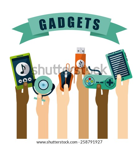 gadgets icon design, vector illustration eps10 graphic  - stock vector