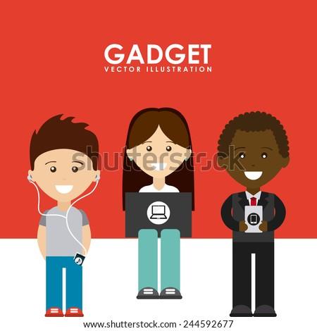 gadgets tech design, vector illustration eps10 graphic - stock vector