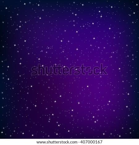 Galaxy background, vector - stock vector