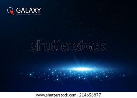 Galaxy background. Vector illustration - stock vector