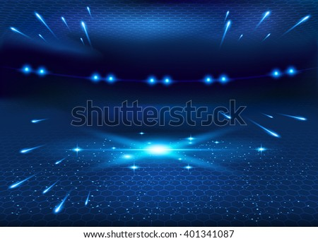 Galaxy birth - abstract vector background, space, stars, ufo, for web, print and other projects. Cosmos background. - stock vector