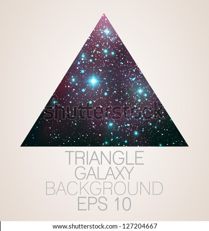 Galaxy triangle background - vector illustration. - stock vector