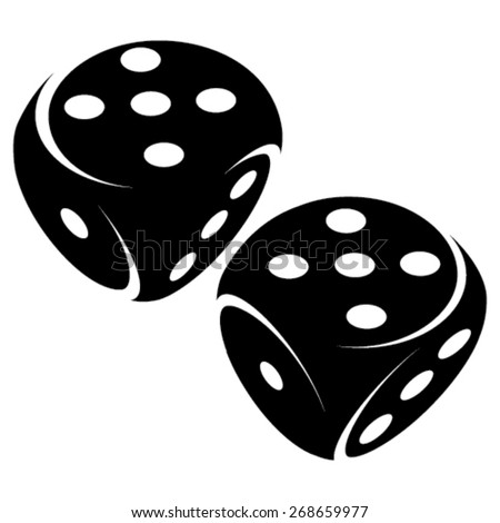 Gambling dice symbols - stock vector