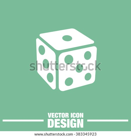 gambling dice vector icon - stock vector