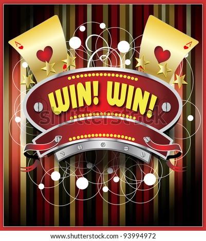 Gambling emblem illustration - stock vector