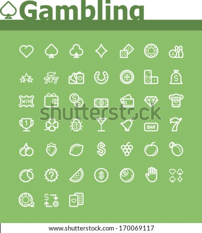Gambling icon set - stock vector