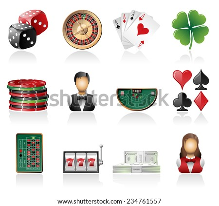 Gambling icons - stock vector