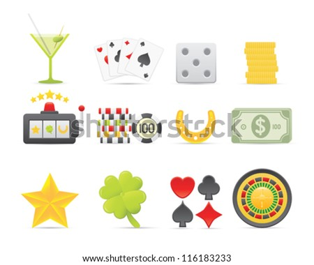 Gambling Icons For Your Application Or Web Site - stock vector