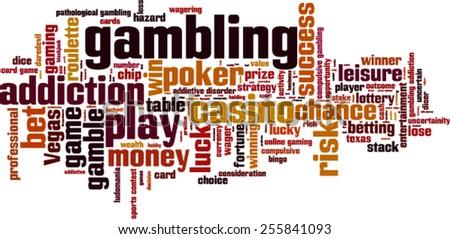 Gambling word cloud concept. Vector illustration - stock vector