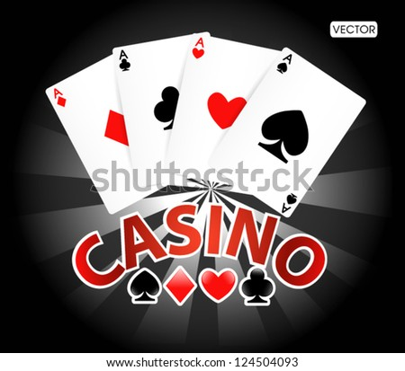 Game card casno - stock vector