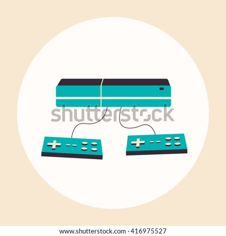 Game console. Vector flat illustration. Material design - stock vector
