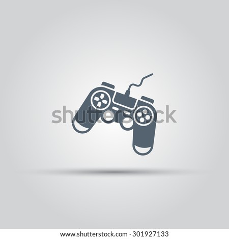 Game controller, console gamepad isolated vector icon - stock vector