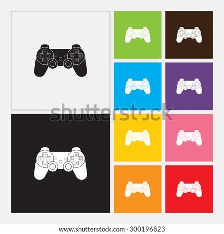 Game controller, gamepad, joystick icon - Vector - stock vector