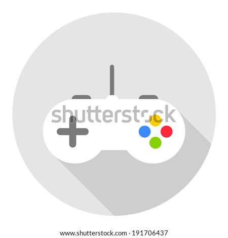 Game controller icon, vector illustration. Flat design style - stock vector