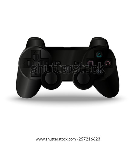 Game controller. Joystick game console. Vector gamepad in eps - stock vector