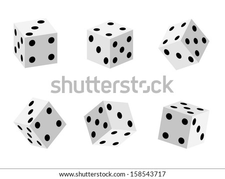 Game dice set - stock vector