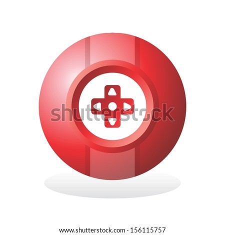 game icon sphere button - stock vector