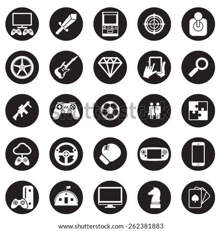 game icon vector set - stock vector