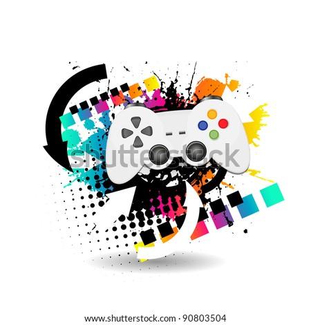 game joypad - stock vector