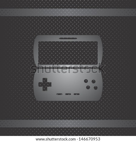 game metal theme new game pad - stock vector