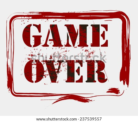 Game over concept - illustration - stock vector