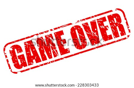 Game over red stamp text on white - stock vector