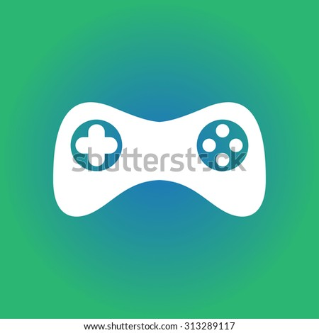 Game pad icon. Vector. Flat design style - stock vector