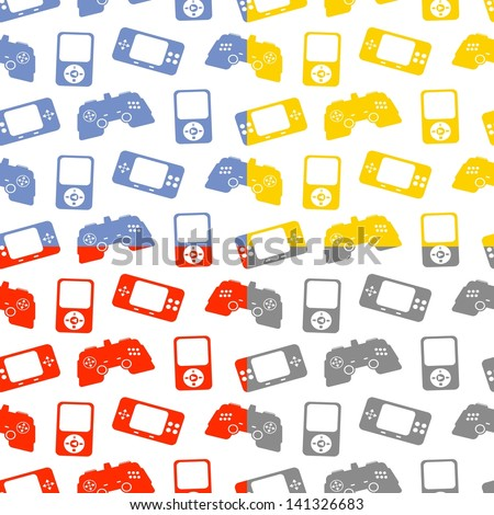 game pattern repeatable - stock vector