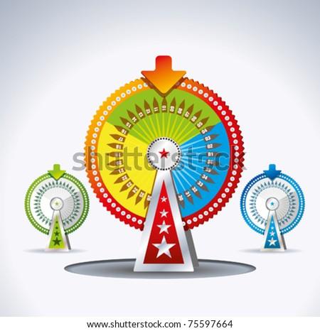 game wheel - stock vector